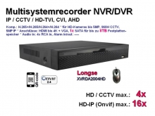 Multi-System HD-Recorder 5MP XVR  4x CCTV / AHD / CVI / TVI | 16x IP (XVRDA2004HD)
