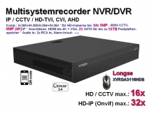 Multi-System HD-Recorder 8MP/4K XVR  16x CCTV / AHD / CVI / TVI | 32x IP (XVRDA3116DB)