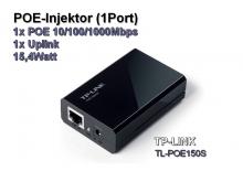 POE Injektor, 1x POE 10/100/1000Mbps + 1x Uplink, 15,4Watt (TP-Link POE150S)